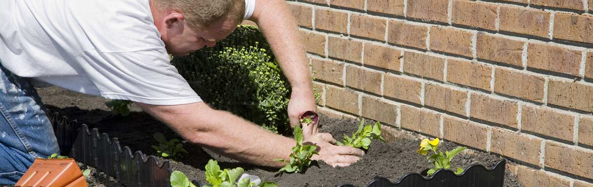 photo of a gardener at work, illustrating that they are typical small-business tax and accounts customers for GK Taxation Services