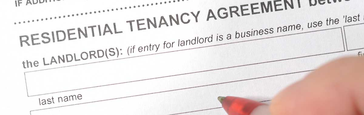 Close up of a landlords rental agreement form: GK Taxation Services Ltd offers a range of accounting and tax services for landlords